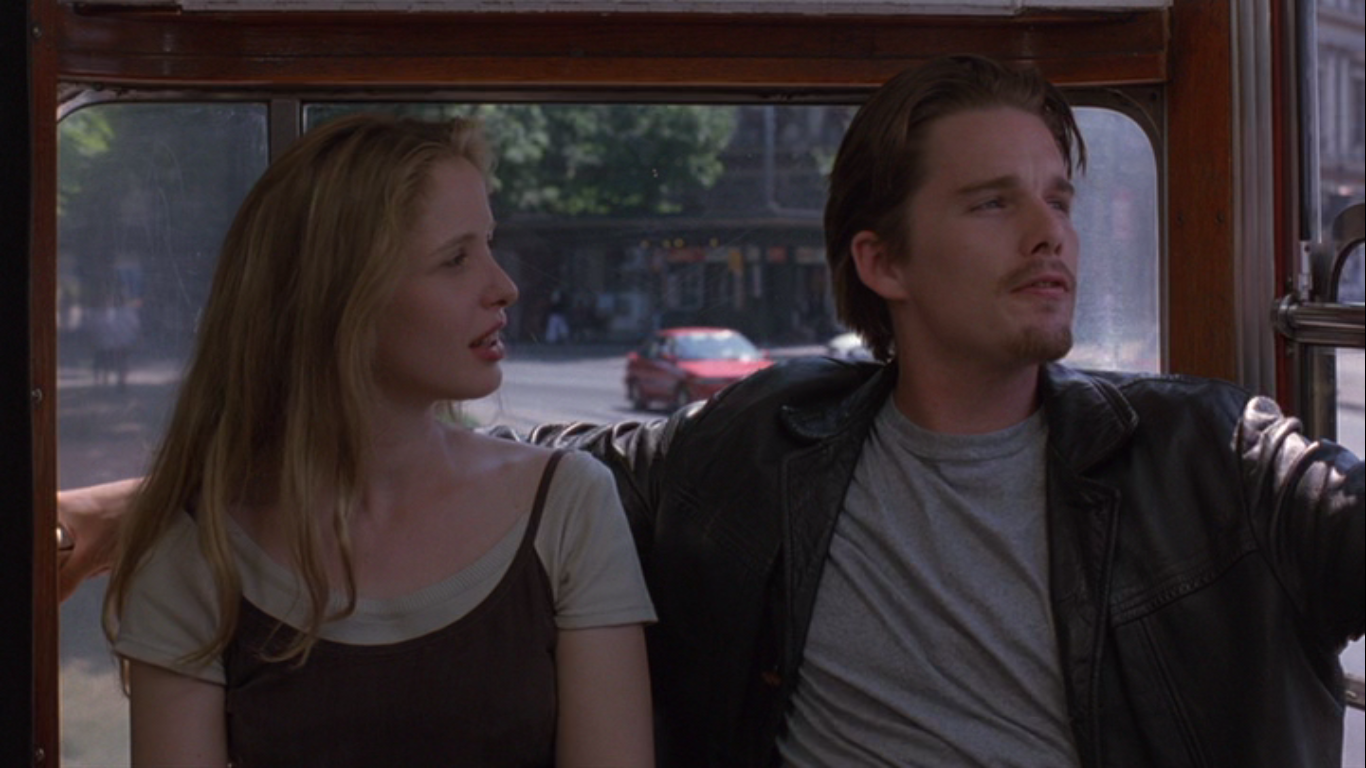 """before sunrise Just walking, chattin' romantic movies tend to skew towards the silly end of the cinematic spectrum usually, a pair of characters must overcome a variety of personality, social or economic issues to """"find"""" each other, either with or without the aide of mystical or supernatural occurrences, and invariably come to the end of the story."""